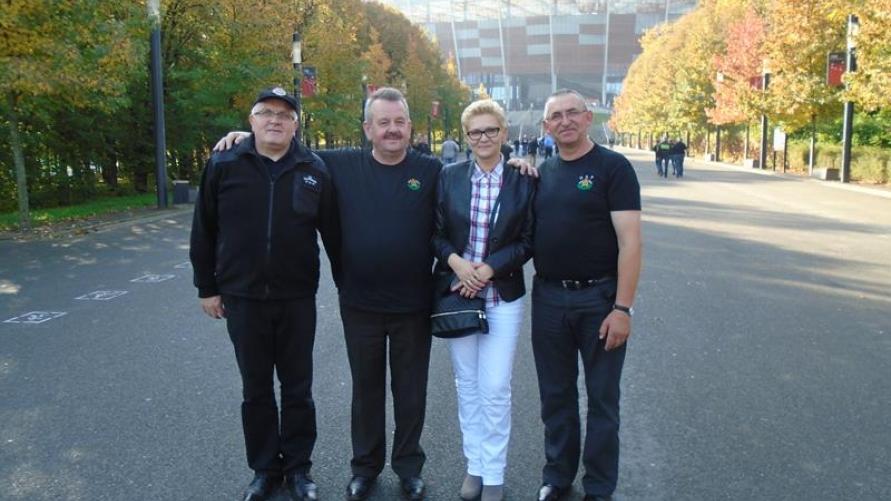Strażacy z Łagiewnik w Warszawie