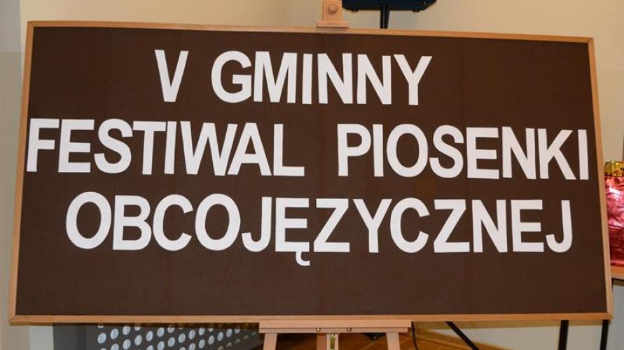 V Gminny Festiwal Piosenki Obcojęzycznej