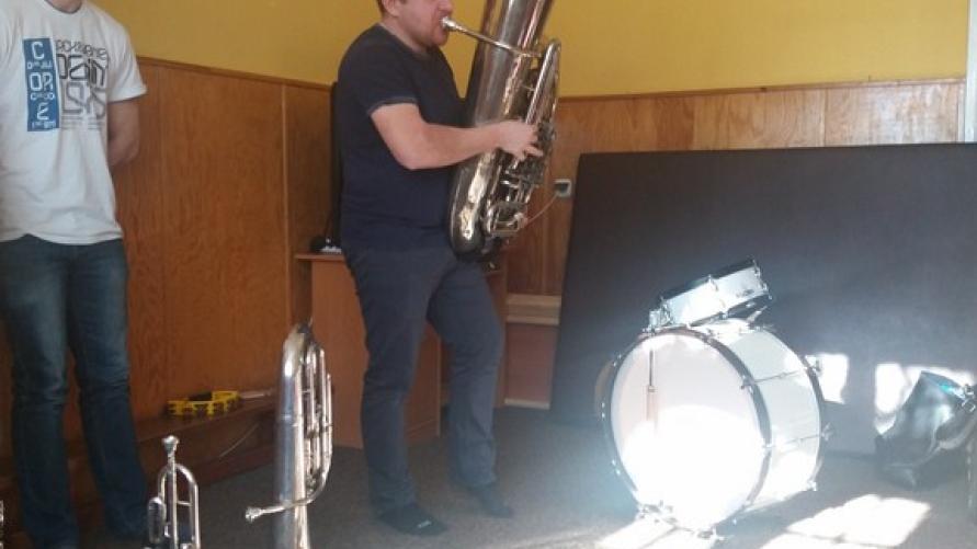 W krainie instrumentów dętych - wizyta muzyków kobylińskiej Orkiestry Dętej w Smolicach