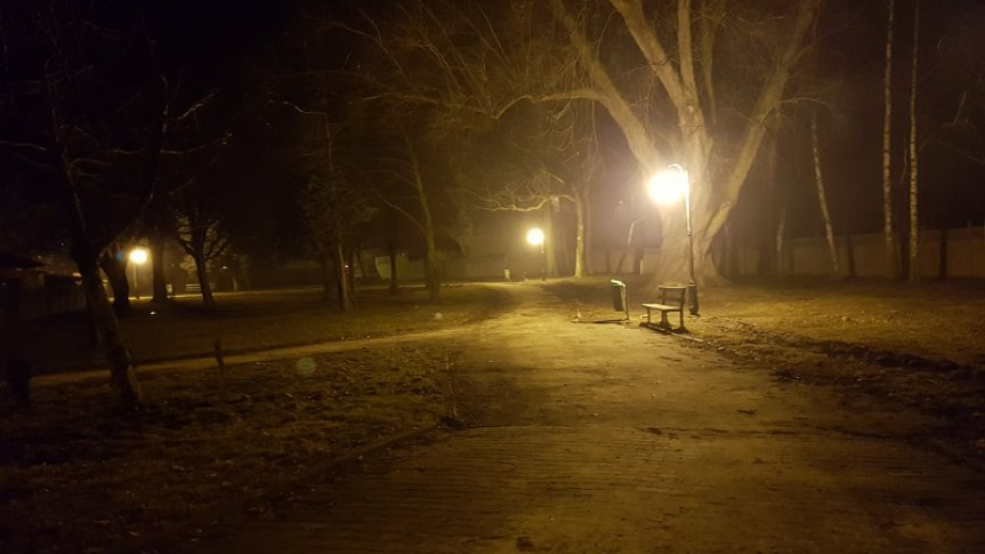 Montaż oświetlenia w parku przy ulicy Berdychowskiej