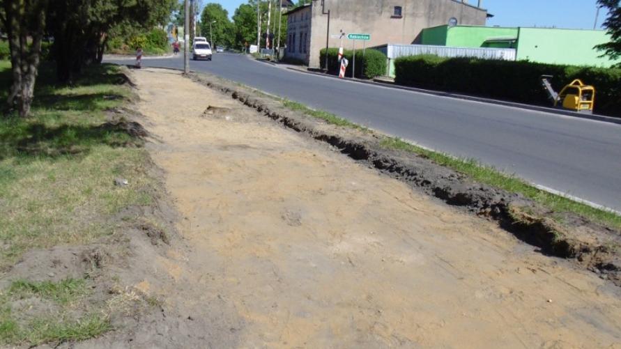 Remont części chodnikowej ulicy Aleje Powstańców Wlkp. w Kobylinie