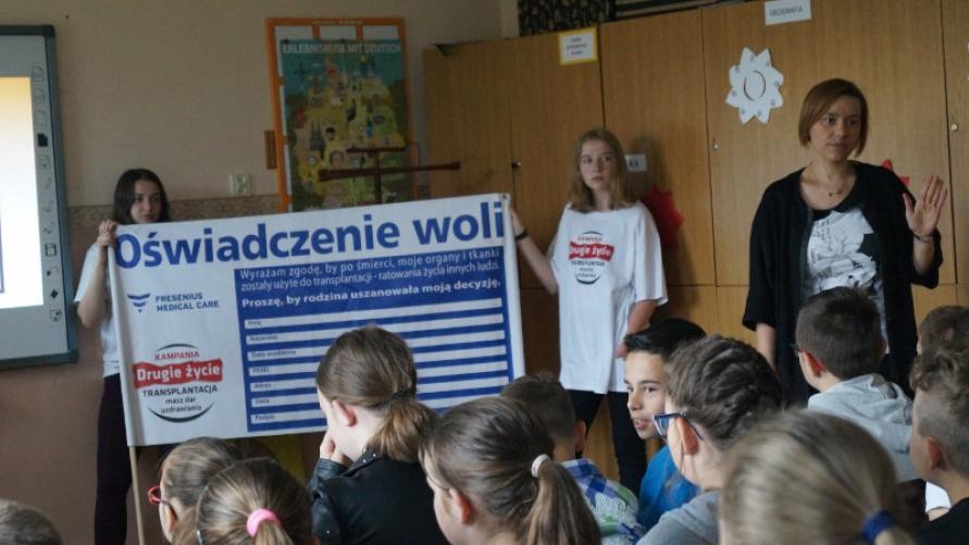 Spotkanie z uczniami SP Smolice w ramach kampanii Drugie życie