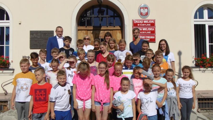 Uczniowie z polsko - niemieckiej wymiany z wizytą u Burmistrza