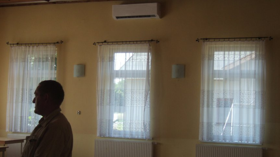 Montaż klimatyzacji w świetlicy wiejskiej w Fijałowie