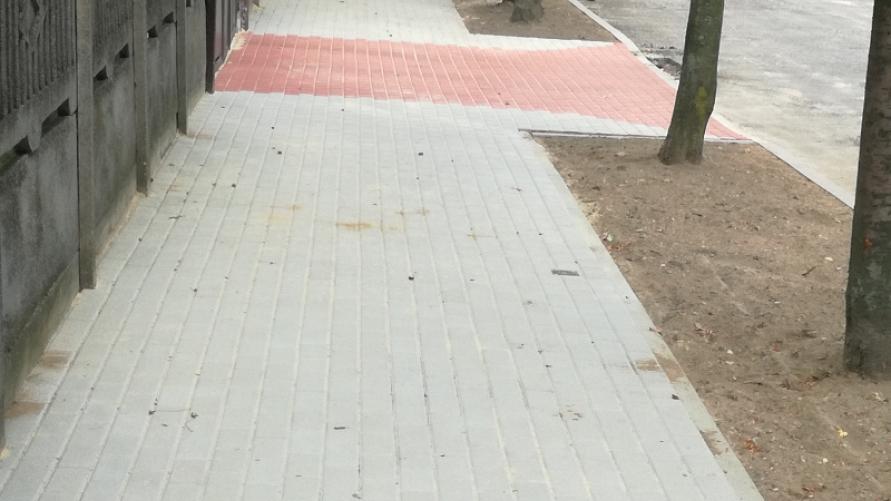 Zakończono przebudowę chodnika przy ulicy Twardowskiego w Kobylinie
