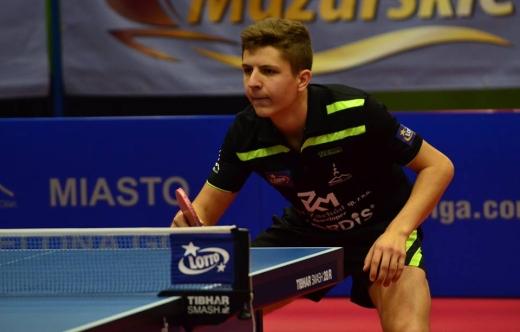 Wachowiak w rozgrywkach Superligi tenisa stołowego