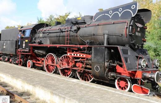 Pociąg retro w Kobylinie