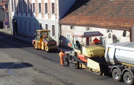 Remont drogi krajowej 36 w mieście Kobylin