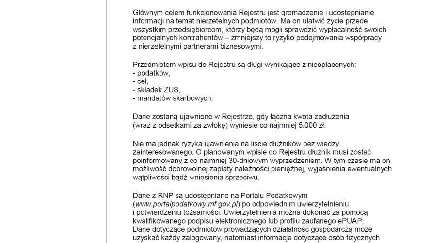 Informacja Izby Administracji Skarbowej w Poznaniu