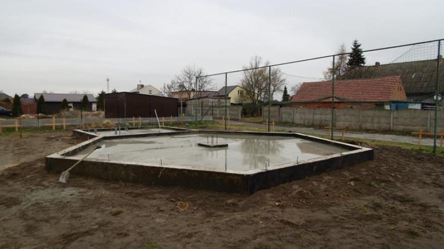 Odbiór I etapu budowy grzybka w Starym Kobylinie