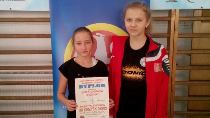 Uczennice SP Kobylin wystąpiły w Finałach Wojewódzkich Tenisa Stołowego