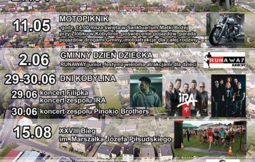 plakat - imprezy w Gminie Kobylin