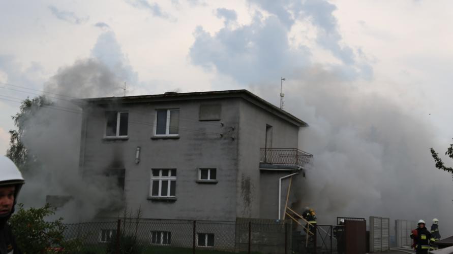 pożar budynku mieszkalnego w Kobylinie