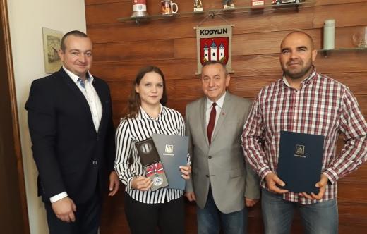 Burmistrz Tomasz Lesiński, Monika Sowa, Kazimierz Grzempowski, Mirosław Flak