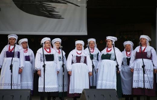 Zespół Łagiewniczanie na scenie
