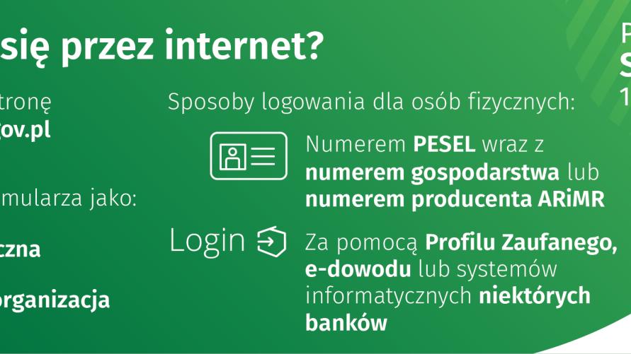 Grafika z instrukcją jak spisać się przez internet na stronie spisrolny.gov.pl