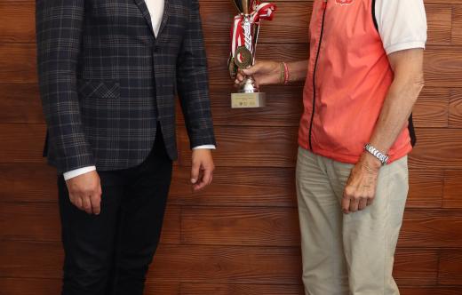 Czesław Roszczak na spotkaniu u Burmistrza