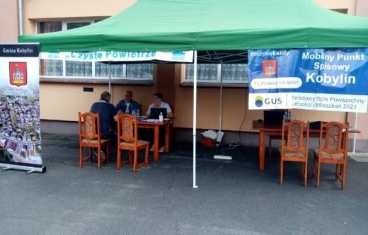 Mobilny punkt informacyjny w Łagiewnikach
