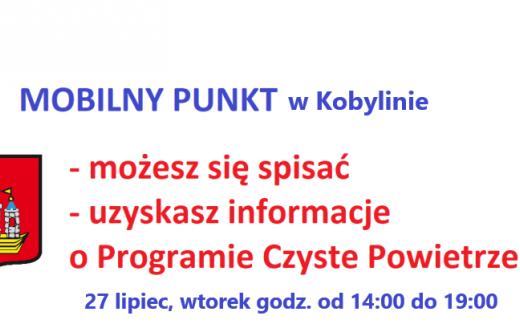 Mobilny punkt informacyjny w Kobylinie