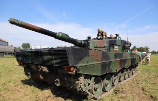 Grafika przedstawia zdjęcie sprzętu wojskowego