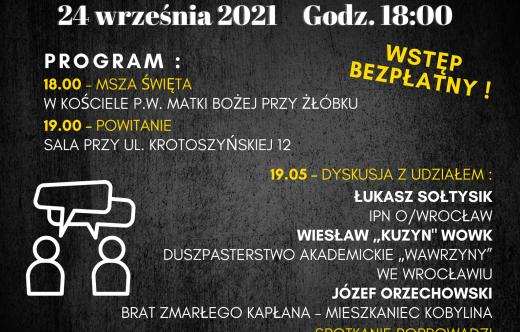 Grafika przedstawiająca plakat na spotkanie z mieszkańcami Kobylina