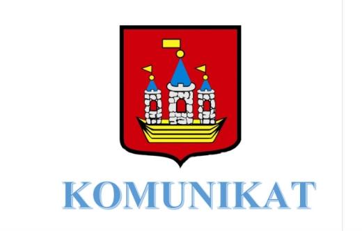 Grafika przedstawia herb gminy Kobylin oraz napis komunikat.
