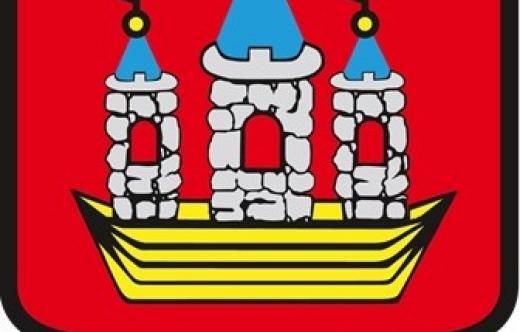 Grafika przedstawia herb Gminy Kobylin oraz napis Rada Miejska w Kobylinie.